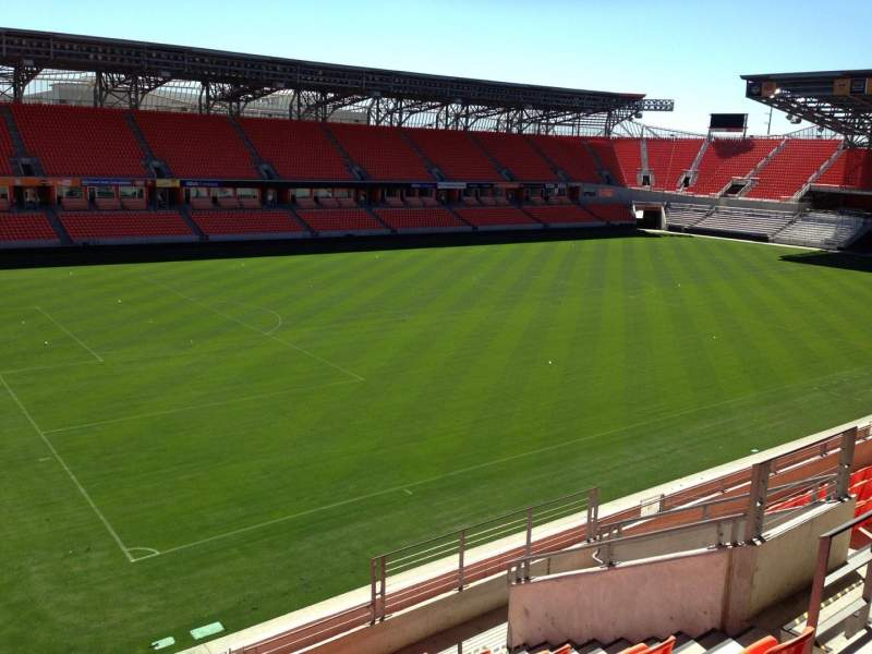 Seating view for BBVA Compass Stadium Section 210 Row J Seat 7