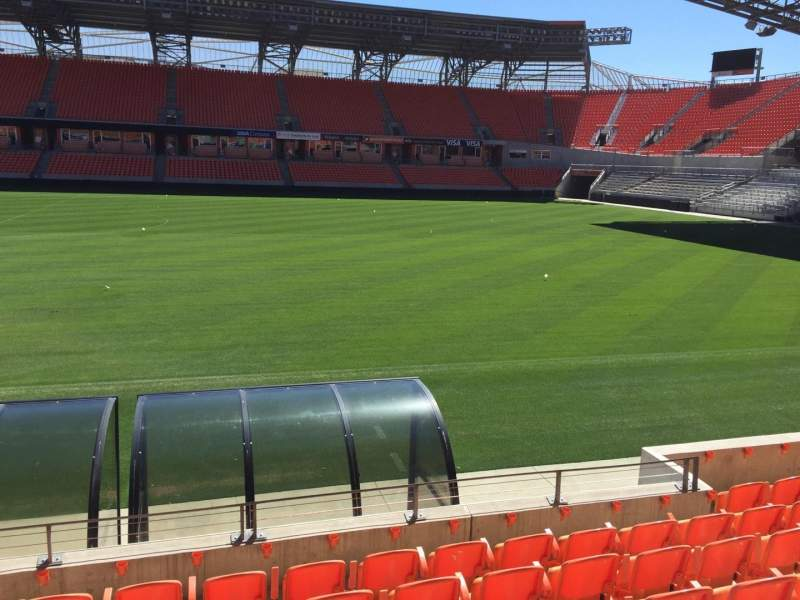Seating view for BBVA Compass Stadium Section 105 Row H Seat 15