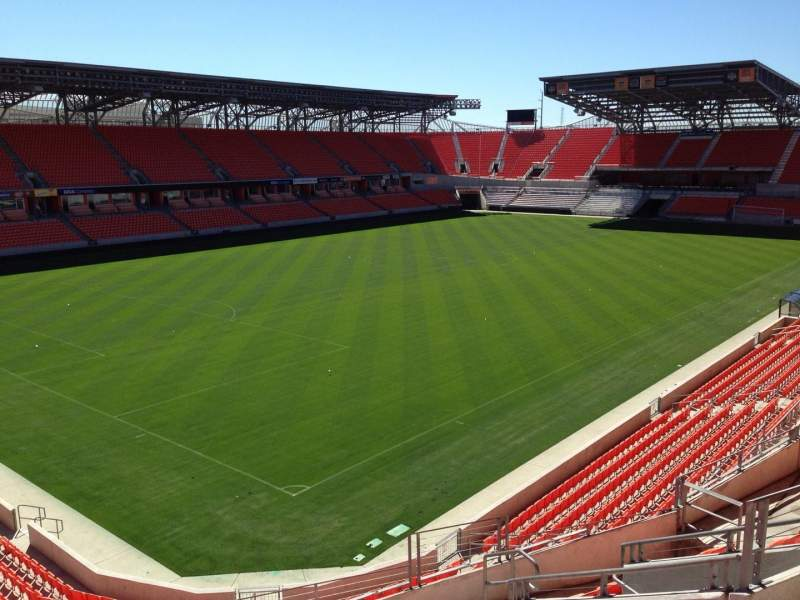 Seating view for BBVA Compass Stadium Section 211 Row J Seat 5