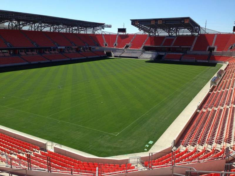 Seating view for BBVA Compass Stadium Section 212 Row J Seat 5