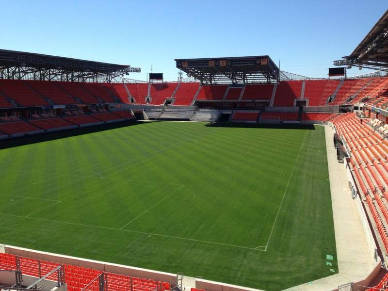 Seating view for BBVA Stadium Section 213 Row J Seat 18