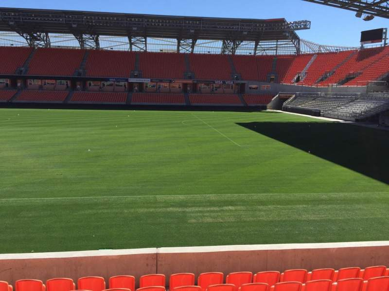 Seating view for BBVA Compass Stadium Section 104 Row H Seat 15