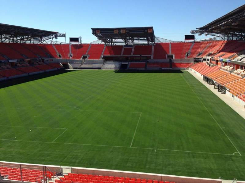 Seating view for BBVA Compass Stadium Section 214 Row J Seat 8