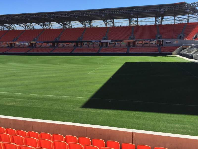 Seating view for BBVA Compass Stadium Section 103 Row H Seat 15