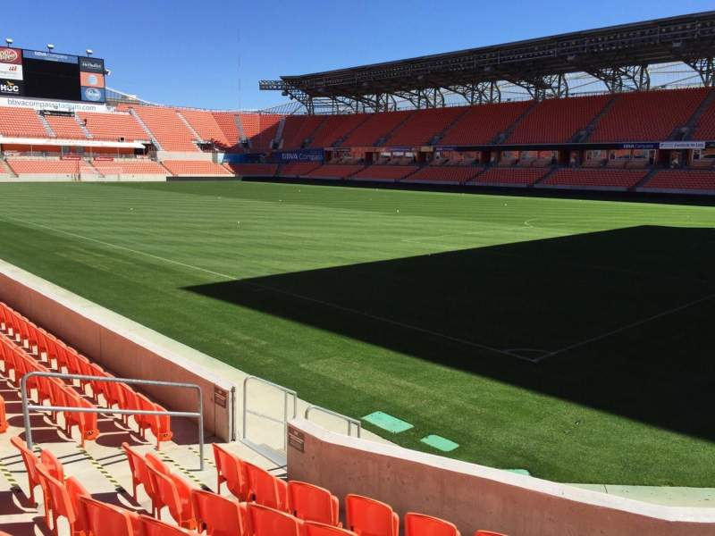 Seating view for BBVA Compass Stadium Section 102 Row F Seat 10