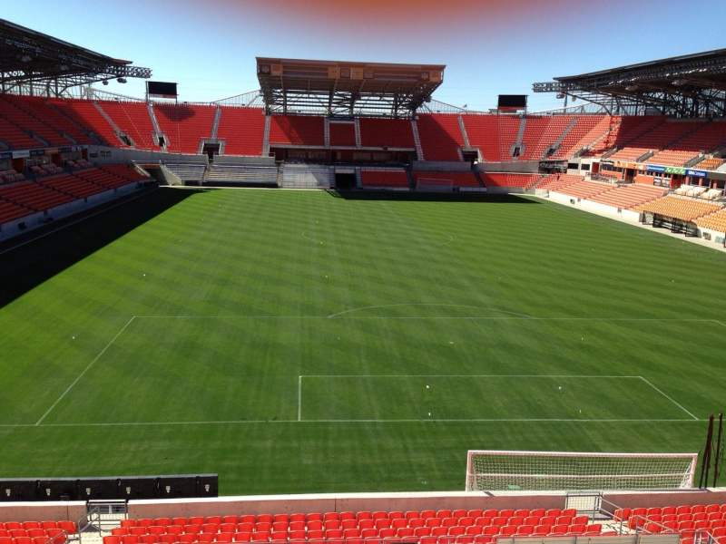Seating view for BBVA Compass Stadium Section 217 Row D Seat 14