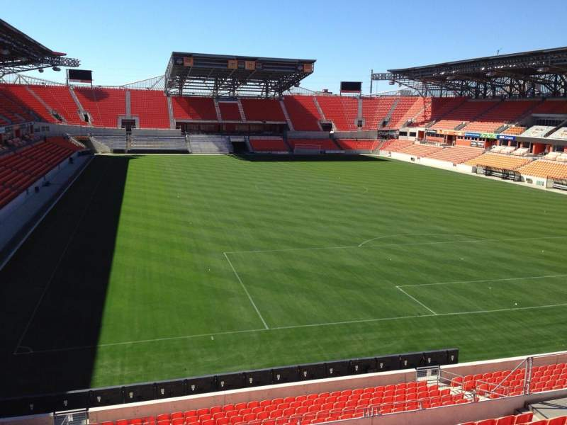Seating view for BBVA Compass Stadium Section 218 Row J Seat 8