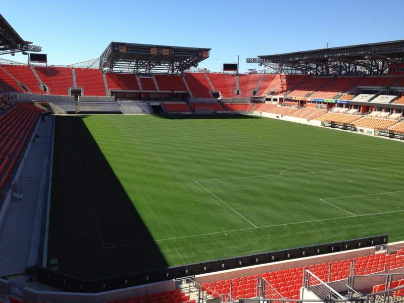 Seating view for BBVA Compass Stadium Section 219 Row J Seat 12