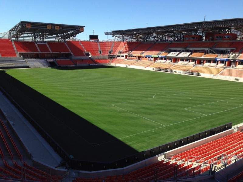 Seating view for BBVA Compass Stadium Section 220 Row J Seat 11