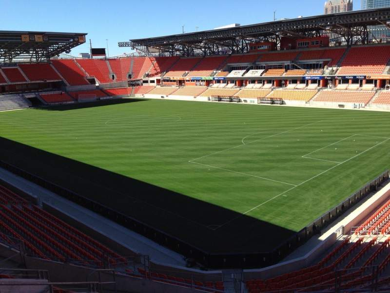 Seating view for BBVA Compass Stadium Section 221 Row J Seat 11