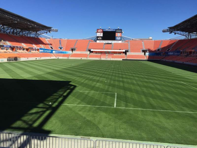 Seating view for BBVA Compass Stadium Section 135 Row F Seat 15