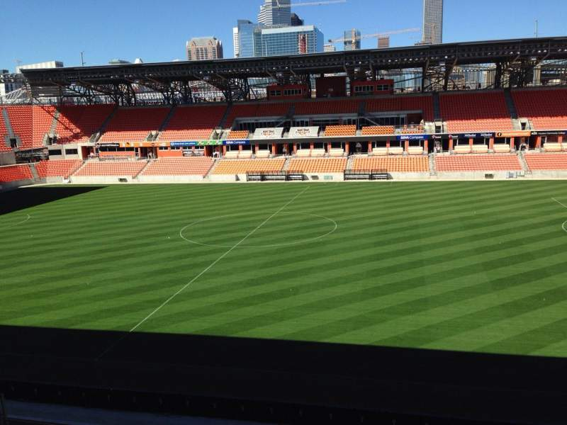 Seating view for BBVA Compass Stadium Section 225 Row j Seat 15