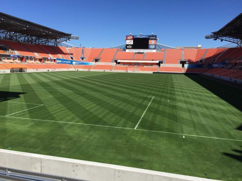 Seating view for BBVA Compass Stadium Section 134 Row F Seat 15
