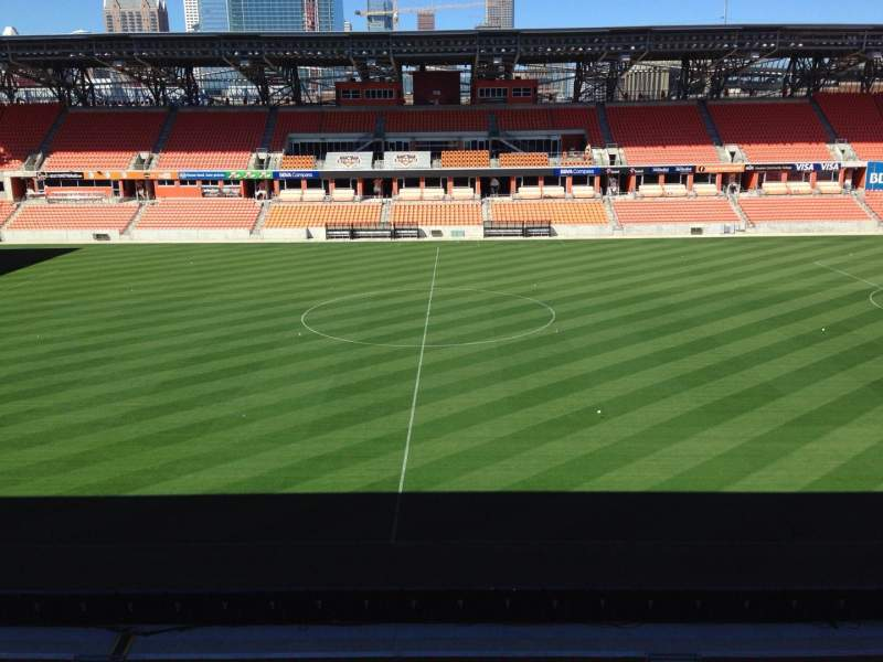 Seating view for BBVA Compass Stadium Section 226 Row J Seat 15
