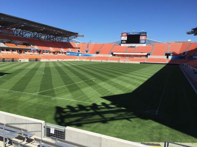 Seating view for BBVA Compass Stadium Section 133 Row F Seat 8