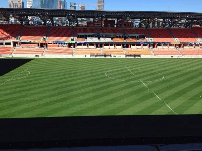 Seating view for BBVA Compass Stadium Section 227 Row J Seat 15