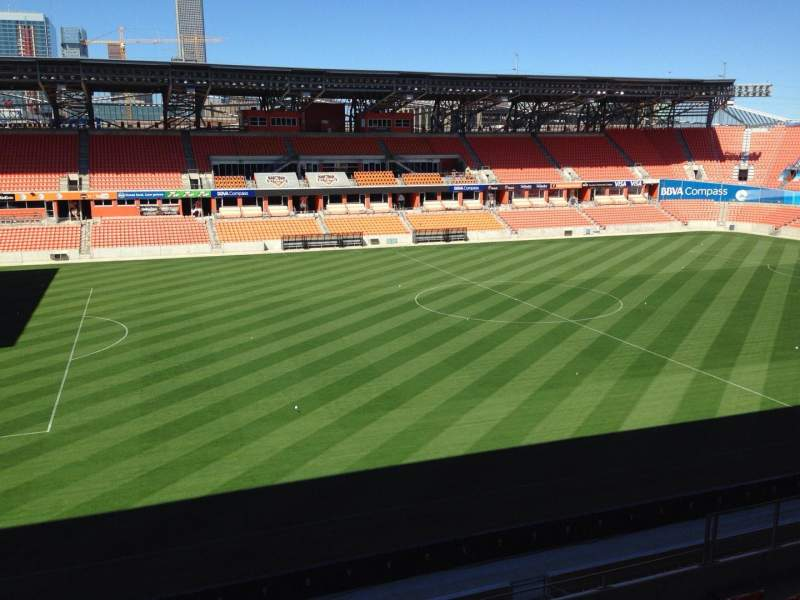 Seating view for BBVA Compass Stadium Section 228 Row J Seat 15