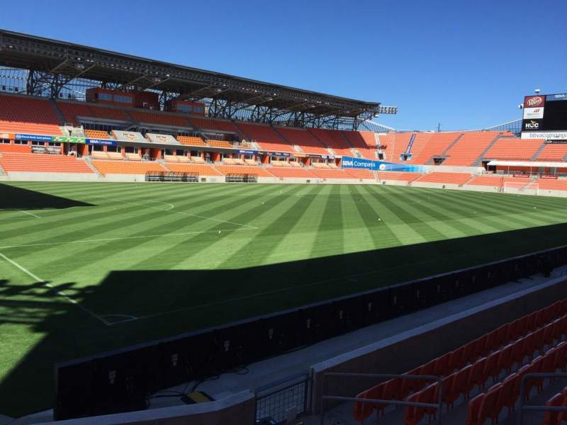 Seating view for BBVA Compass Stadium Section 130 Row F Seat 6
