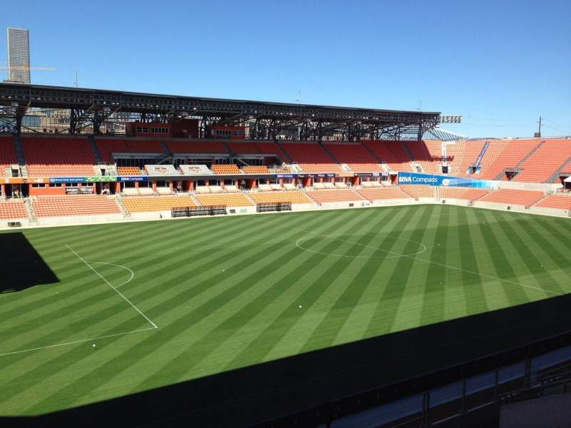 Seating view for BBVA Compass Stadium Section 229 Row J Seat 15