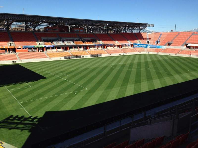 Seating view for BBVA Stadium Section 230 Row J Seat 16