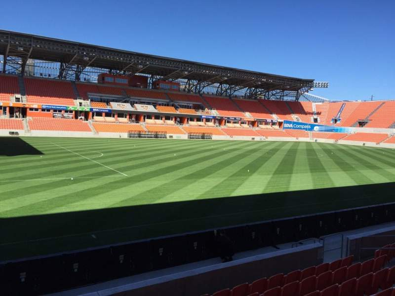 Seating view for BBVA Compass Stadium Section 129 Row F Seat 15