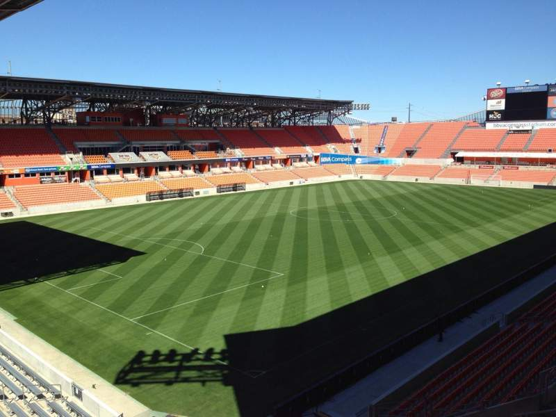 Seating view for BBVA Compass Stadium Section 231 Row J Seat 9