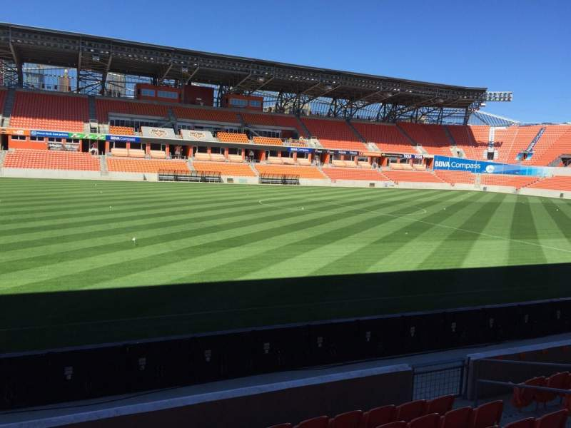Seating view for BBVA Compass Stadium Section 128 Row F Seat 15