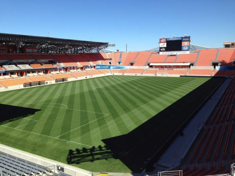 Seating view for BBVA Compass Stadium Section 232 Row J Seat 9