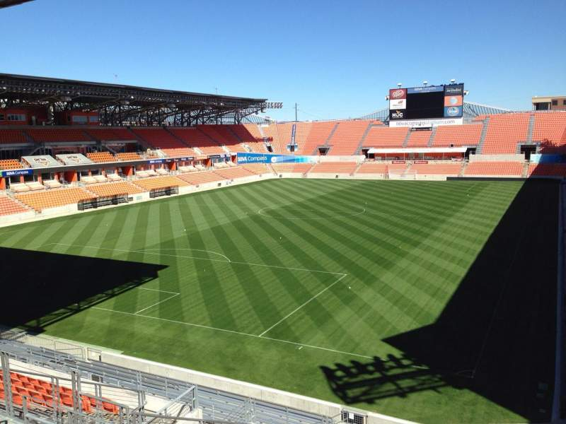 Seating view for BBVA Compass Stadium Section 233 Row J Seat 11