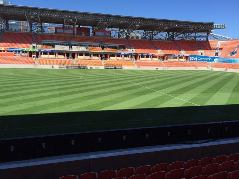 Seating view for BBVA Compass Stadium Section 126 Row F Seat 15