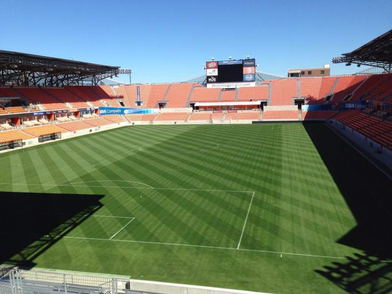 Seating view for BBVA Compass Stadium Section 234 Row J Seat 15