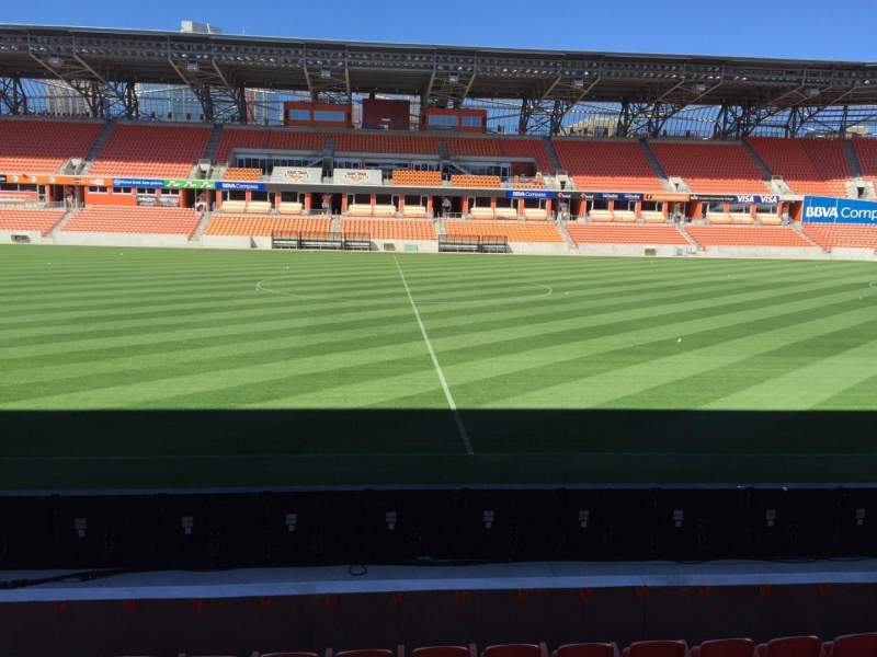 Seating view for BBVA Stadium Section 126 Row F Seat 15