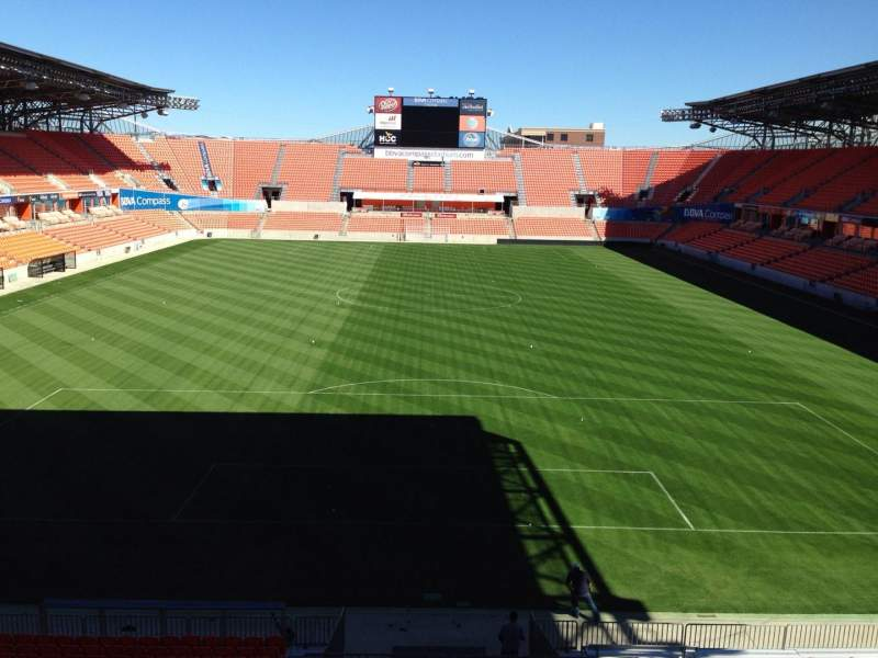 Seating view for BBVA Compass Stadium Section 236 Row C Seat 7
