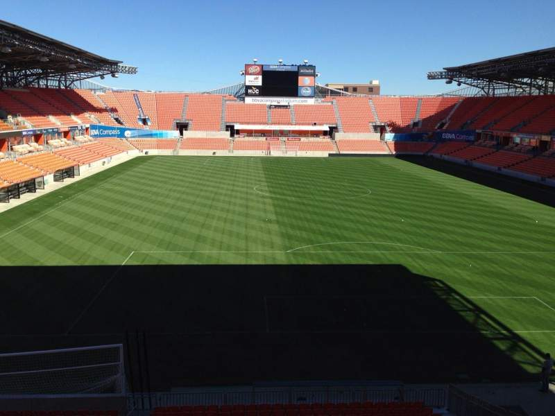 Seating view for BBVA Compass Stadium Section 237 Row C Seat 15