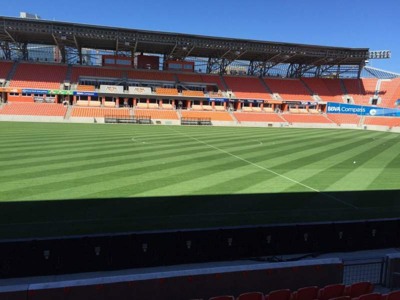 Seating view for BBVA Compass Stadium Section 127 Row F Seat 15