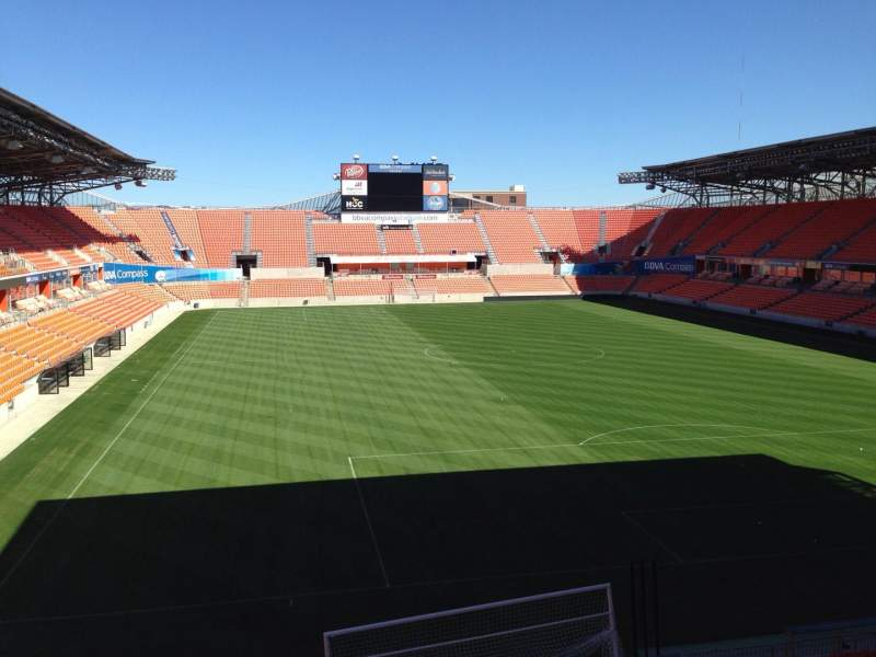 Seating view for BBVA Compass Stadium Section 238 Row J Seat 15
