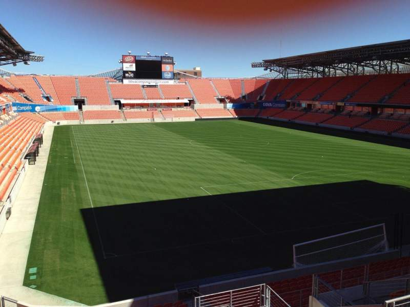 Seating view for BBVA Compass Stadium Section 239 Row J Seat 13
