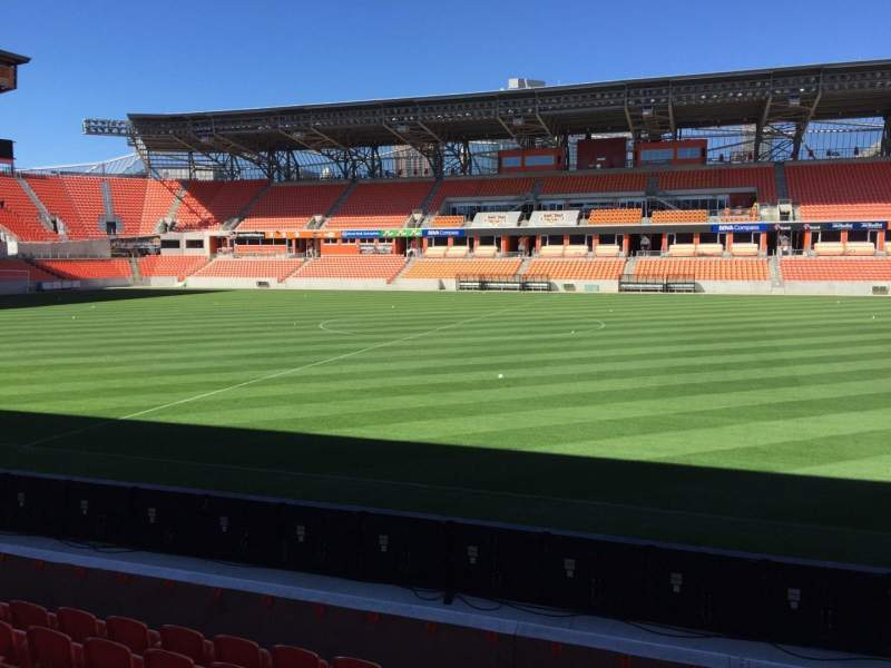 Seating view for BBVA Compass Stadium Section 125 Row F Seat 15
