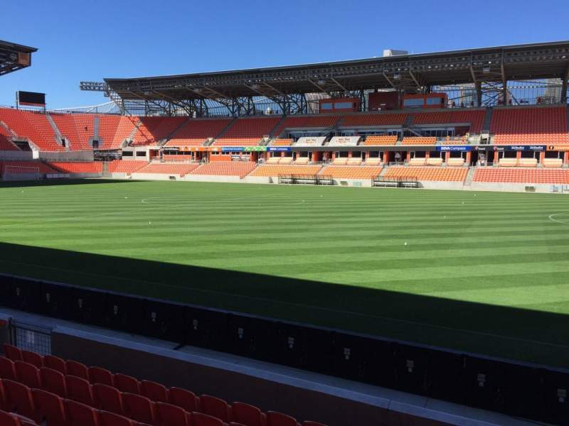 Seating view for BBVA Compass Stadium Section 124 Row F Seat 15