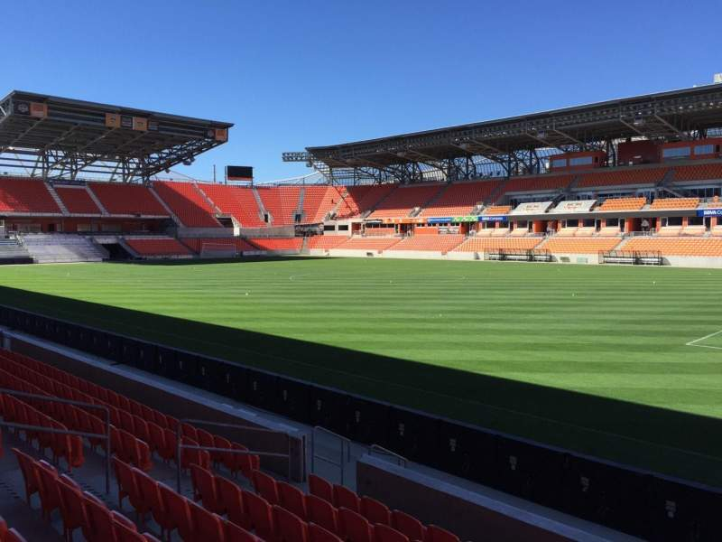 Seating view for BBVA Compass Stadium Section 123 Row F Seat 15