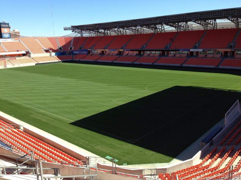 Seating view for BBVA Compass Stadium Section 201 Row J Seat 11