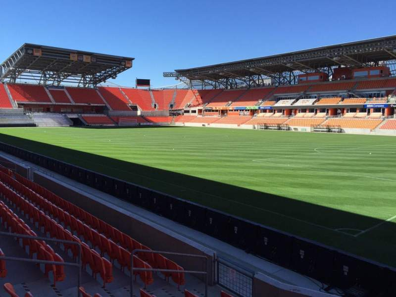 Seating view for BBVA Compass Stadium Section 122 Row F Seat 7