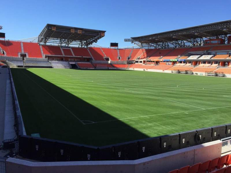 Seating view for BBVA Compass Stadium Section 118 Row F Seat 12