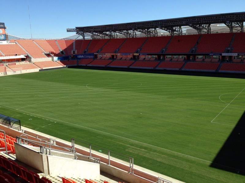Seating view for BBVA Compass Stadium Section 203 Row J Seat 15
