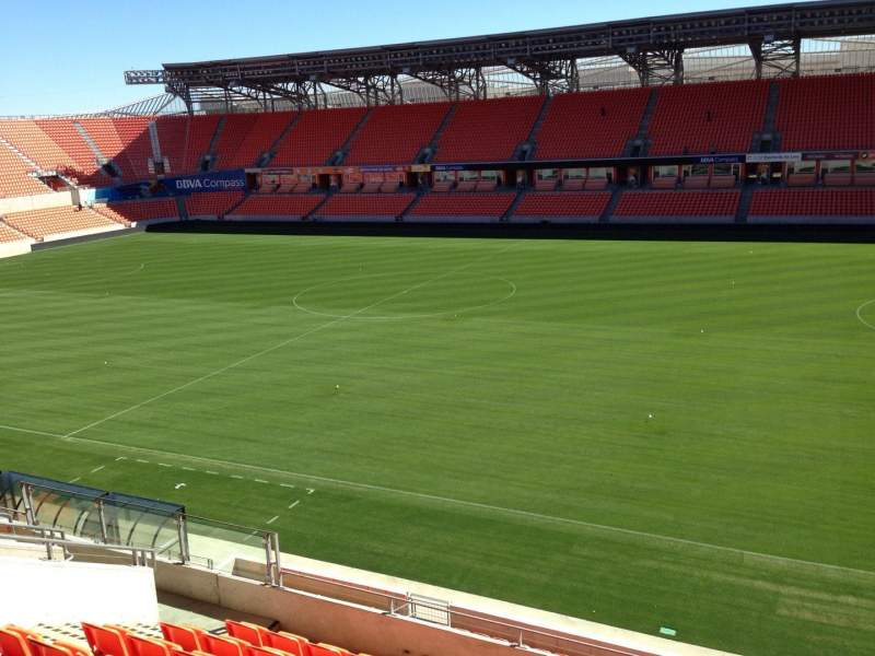Seating view for BBVA Compass Stadium Section 204 Row J Seat 15