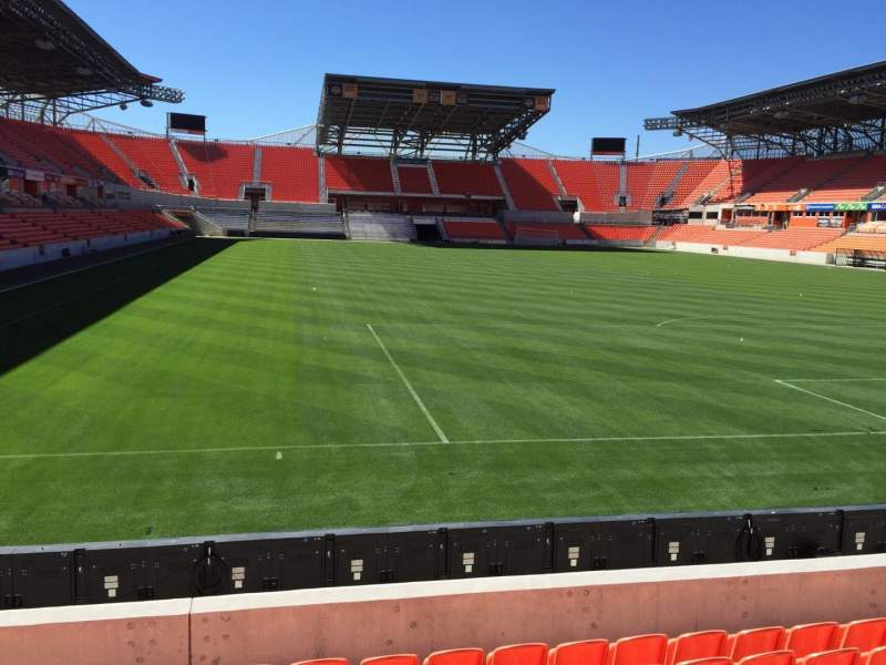 Seating view for BBVA Compass Stadium Section 117 Row F Seat 15