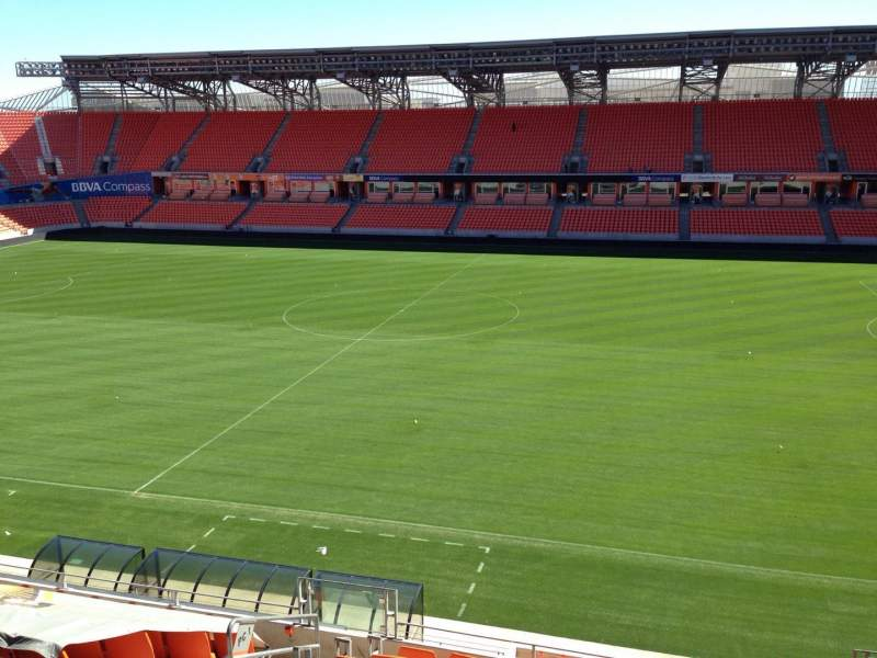 Seating view for BBVA Compass Stadium Section 205 Row D Seat 11