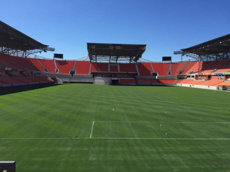 Seating view for BBVA Compass Stadium Section 116 Row F Seat 15