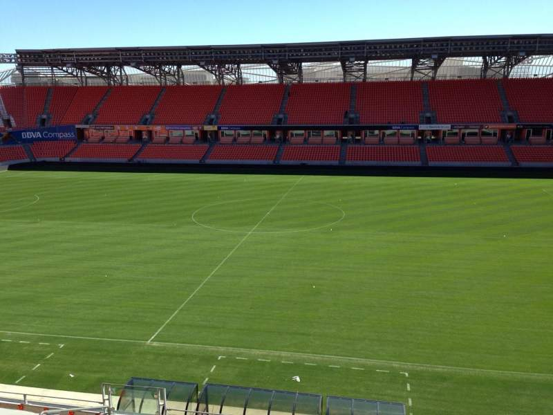Seating view for BBVA Stadium Section 206A Row D Seat 10