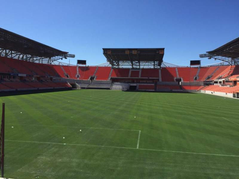 Seating view for BBVA Compass Stadium Section 115 Row F Seat 15
